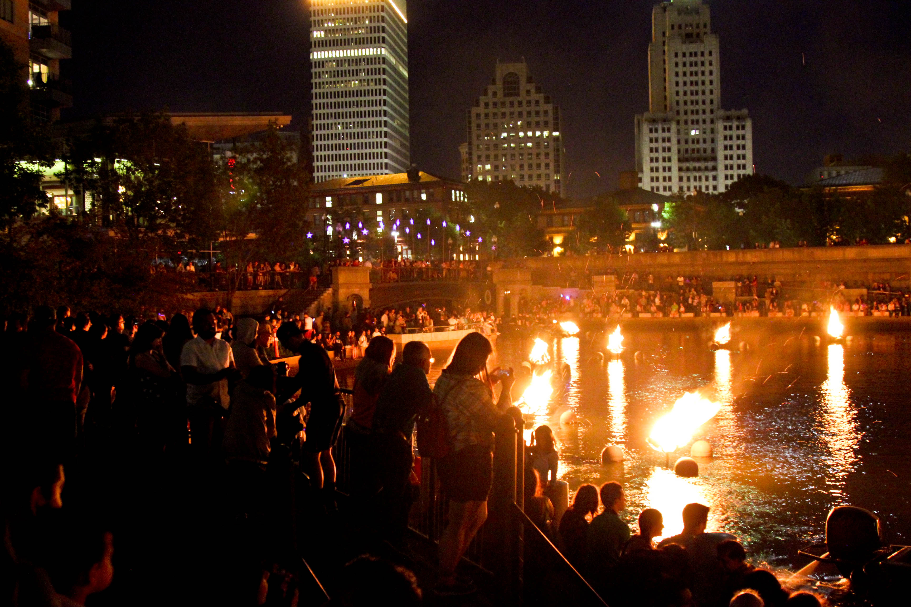 Waterfire through the eyes of the spectator, photograph by Amy Lavigne